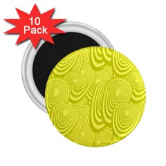 Yellow Oval Ellipse Egg Elliptical 2 25  Magnets (10 Pack)