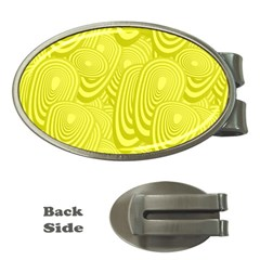 Yellow Oval Ellipse Egg Elliptical Money Clips (oval)