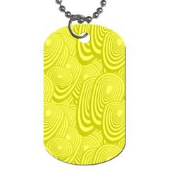 Yellow Oval Ellipse Egg Elliptical Dog Tag (one Side)