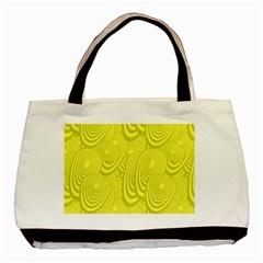 Yellow Oval Ellipse Egg Elliptical Basic Tote Bag