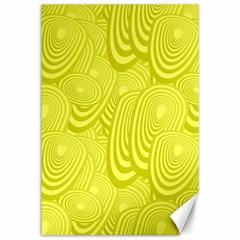 Yellow Oval Ellipse Egg Elliptical Canvas 12  X 18