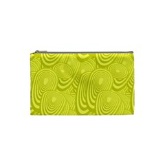 Yellow Oval Ellipse Egg Elliptical Cosmetic Bag (small)