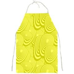 Yellow Oval Ellipse Egg Elliptical Full Print Aprons