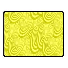 Yellow Oval Ellipse Egg Elliptical Fleece Blanket (small)