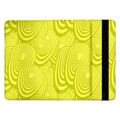 Yellow Oval Ellipse Egg Elliptical Samsung Galaxy Tab Pro 12 2  Flip Case