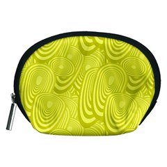 Yellow Oval Ellipse Egg Elliptical Accessory Pouches (medium)