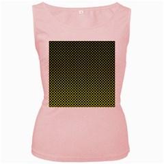 Pattern Halftone Background Dot Women s Pink Tank Top