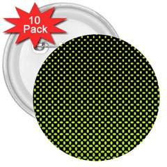 Pattern Halftone Background Dot 3  Buttons (10 Pack)