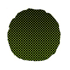Pattern Halftone Background Dot Standard 15  Premium Round Cushions