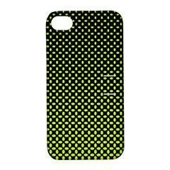 Pattern Halftone Background Dot Apple Iphone 4/4s Hardshell Case With Stand