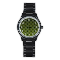 Pattern Halftone Background Dot Stainless Steel Round Watch