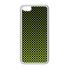 Pattern Halftone Background Dot Apple Iphone 5c Seamless Case (white)