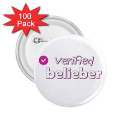 Verified Belieber 2 25  Buttons (100 Pack)  by Valentinaart