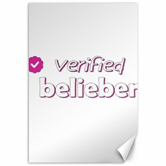 Verified Belieber Canvas 12  X 18   by Valentinaart