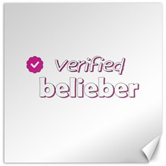 Verified Belieber Canvas 16  X 16   by Valentinaart