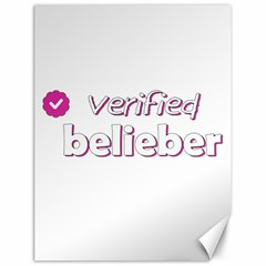 Verified Belieber Canvas 18  X 24   by Valentinaart