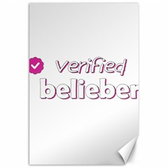 Verified Belieber Canvas 20  X 30   by Valentinaart