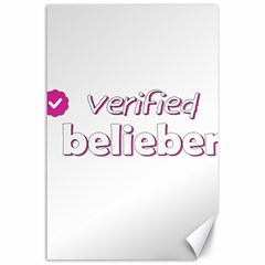 Verified Belieber Canvas 24  X 36  by Valentinaart
