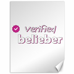 Verified Belieber Canvas 36  X 48   by Valentinaart