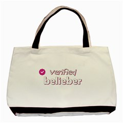 Verified Belieber Basic Tote Bag (two Sides) by Valentinaart