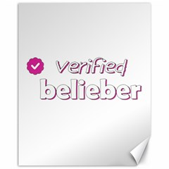 Verified Belieber Canvas 11  X 14   by Valentinaart