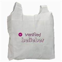 Verified Belieber Recycle Bag (two Side)  by Valentinaart