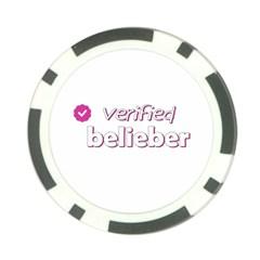 Verified Belieber Poker Chip Card Guard (10 Pack)