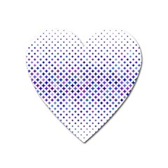 Star Curved Background Geometric Heart Magnet