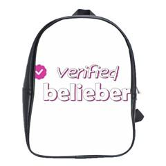 Verified Belieber School Bag (large) by Valentinaart