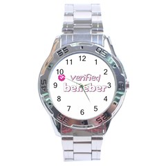 Verified Belieber Stainless Steel Analogue Watch by Valentinaart