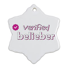 Verified Belieber Snowflake Ornament (two Sides) by Valentinaart