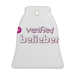 Verified Belieber Bell Ornament (two Sides) by Valentinaart