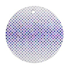 Star Curved Background Geometric Round Ornament (two Sides) by BangZart