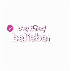 Verified Belieber Small Garden Flag (two Sides) by Valentinaart