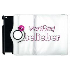 Verified Belieber Apple Ipad 3/4 Flip 360 Case by Valentinaart