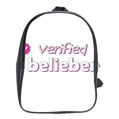 Verified Belieber School Bag (xl) by Valentinaart