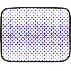 Star Curved Background Geometric Double Sided Fleece Blanket (mini)  by BangZart