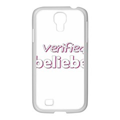 Verified Belieber Samsung Galaxy S4 I9500/ I9505 Case (white) by Valentinaart