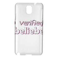 Verified Belieber Samsung Galaxy Note 3 N9005 Hardshell Case by Valentinaart