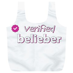 Verified Belieber Full Print Recycle Bags (l)  by Valentinaart