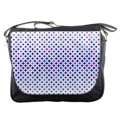 Star Curved Background Geometric Messenger Bags by BangZart