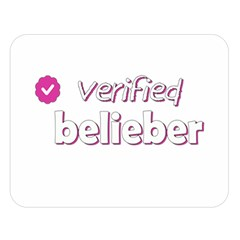 Verified Belieber Double Sided Flano Blanket (large)  by Valentinaart