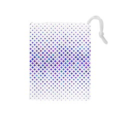 Star Curved Background Geometric Drawstring Pouches (medium)