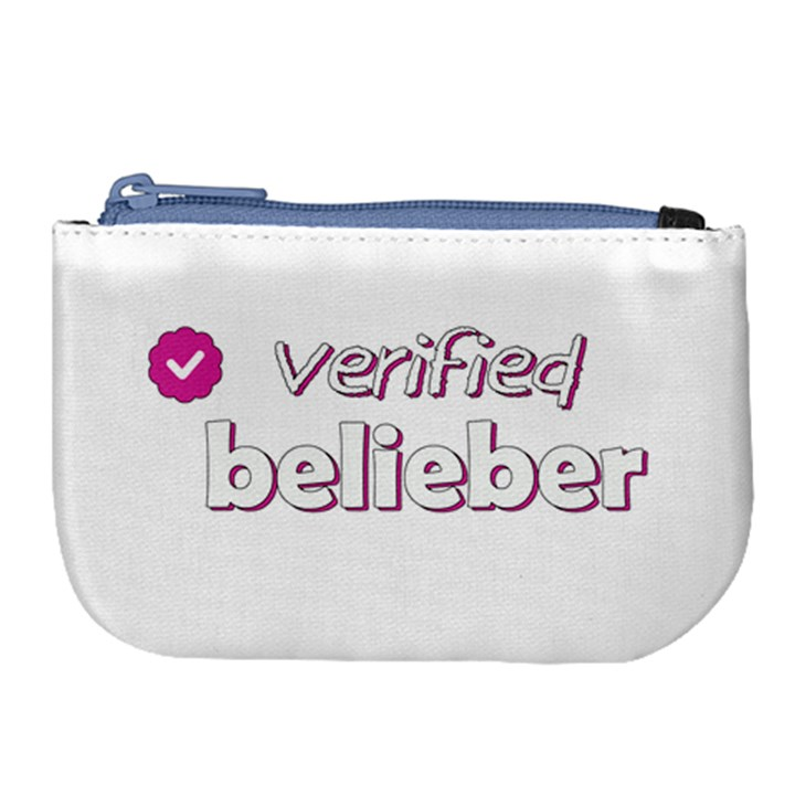 Verified Belieber Large Coin Purse