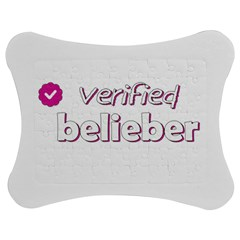 Verified Belieber Jigsaw Puzzle Photo Stand (bow) by Valentinaart
