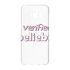 Verified Belieber Samsung Galaxy S8 Hardshell Case  by Valentinaart