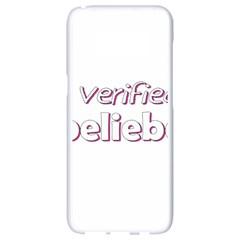 Verified Belieber Samsung Galaxy S8 White Seamless Case by Valentinaart