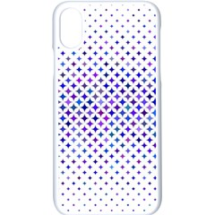 Star Curved Background Geometric Apple Iphone X Seamless Case (white)
