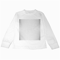 Pattern Background Monochrome Kids Long Sleeve T Shirts