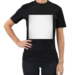 Pattern Background Monochrome Women s T Shirt (black)